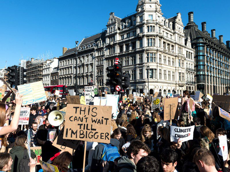 Climate protests in the UK
