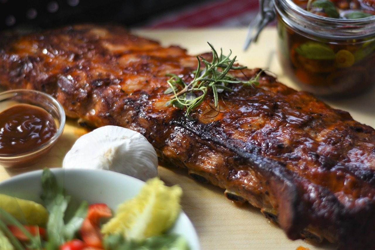 Spare Ribs Grilled